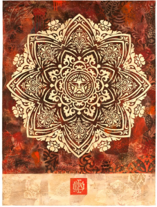Mandala ornament red
