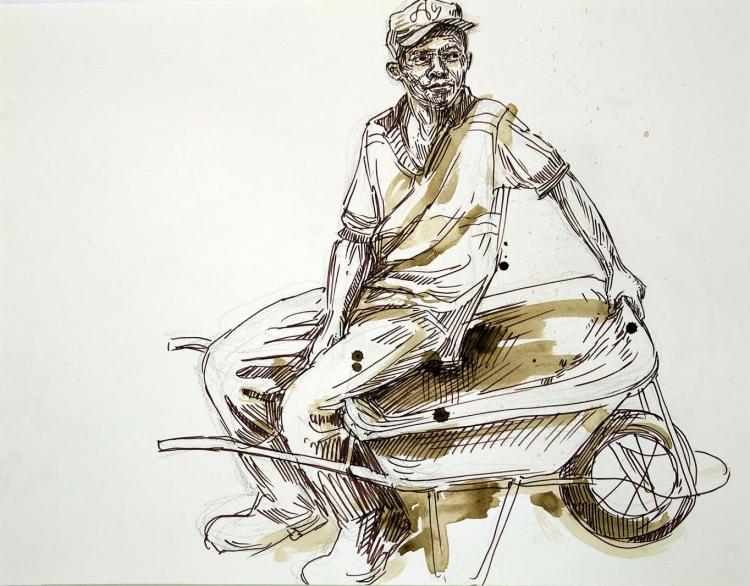 Swoon - Haiti Sketch