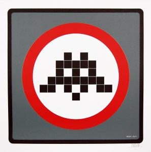Space Invader - Warning Invader